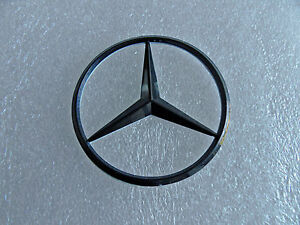 New for mercedes benz gloss black star trunk emblem badge for Mercedes benz trunk emblem