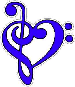 Music Note Heart Piano Guitar Car Bumper Window Vinyl