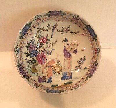 "19. C Antik Japanische Handbemalt Polychromie Porzellan 8.5 "" Schale, Signiert GroßE Vielfalt"