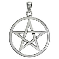 Sterling Silver Pentacle Pendant Wiccan Pagan Jewelry