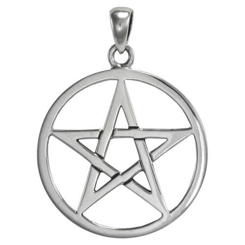 Sterling Silver Pentacle Pendant Wiccan Pagan Pentagram Star Jewelry