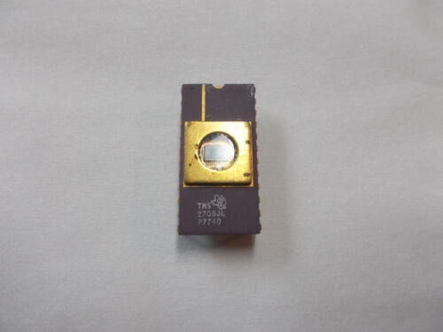 TMS E-PROM 2708JL GREY CERAMIC GOLD FACE VINTAGE IC
