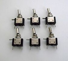 6 BBT Heavy Duty Green Lighted LED 20 amp 12 volt Toggle Switches