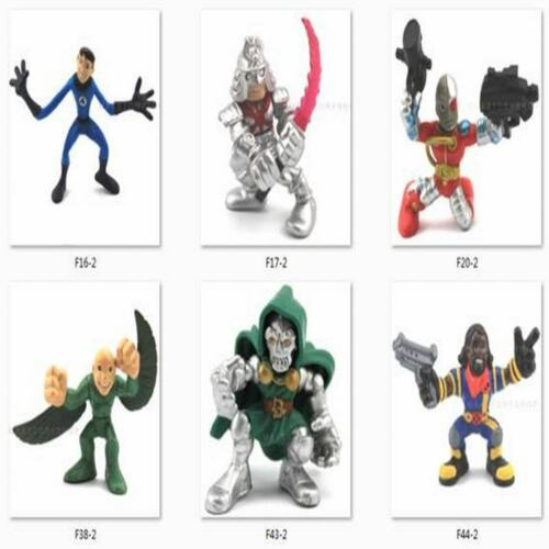10pcs Marvel Super Hero Squad Captain America Spider-man X-men Figures Random