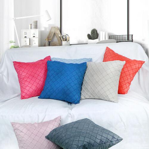 Pillowcase Rhombus Plaid Pattern Cushion Cover Home Car Sofa Large Pillow Case