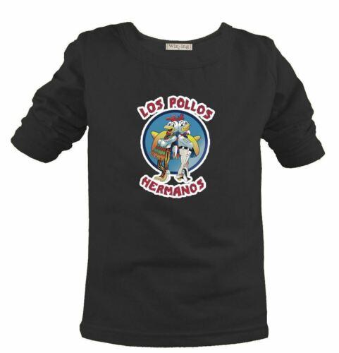 LOS POLLOS Hermanos Breaking Bad Chicken Pattern Kids Gift Short Sleeve T-Shirt
