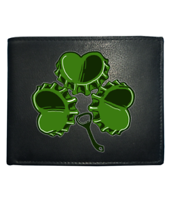 Shamrock beertop-IRISH ALE Leather Wallet