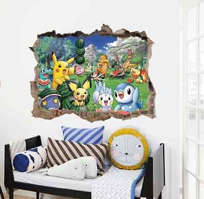 Wandtattoos Wandbilder 3d Pokemon Wandtattoo B 60cm X H 45cm Zy1497 Mobel Wohnen Jung Israel Org