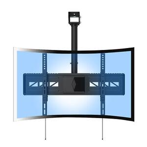 loctek cm3 ceiling curved flat tv wall mount for 32 65 uhd oled 4k samsung ebay. Black Bedroom Furniture Sets. Home Design Ideas