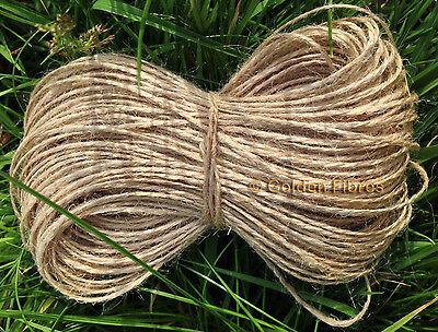 20m,50m to 500m Natural Brown Jute Hessian Burlap Rustic String Twine Cord Tying