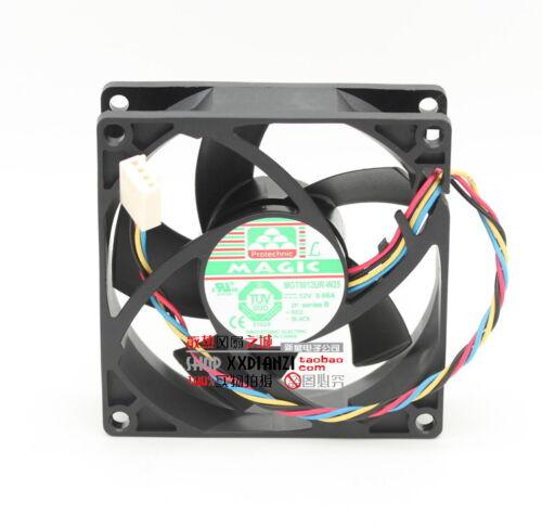 MAGIC MGT8012UR-W25 8025 80mm x 25mm Cooler Cooling Fan PWM DC 12V 0.66A 4Pin