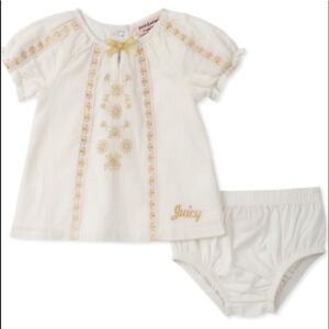 109344fd0 Juicy Couture Baby Girls 2 Pieces Short Sleeves Dress Set 6-9 M   eBay