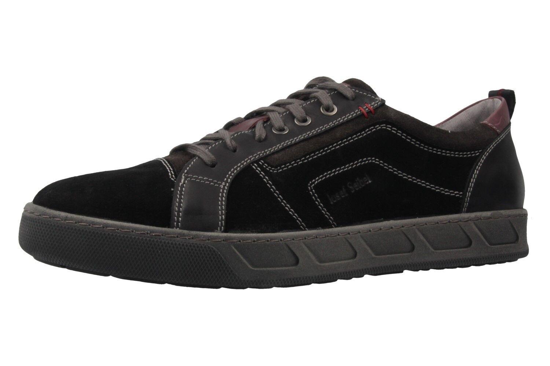 Josef Seibel Hommes Chaussures Basses Dans Grandes Tailles Grandes Chaussures Hommes Seibel Noir XXL cf8a81