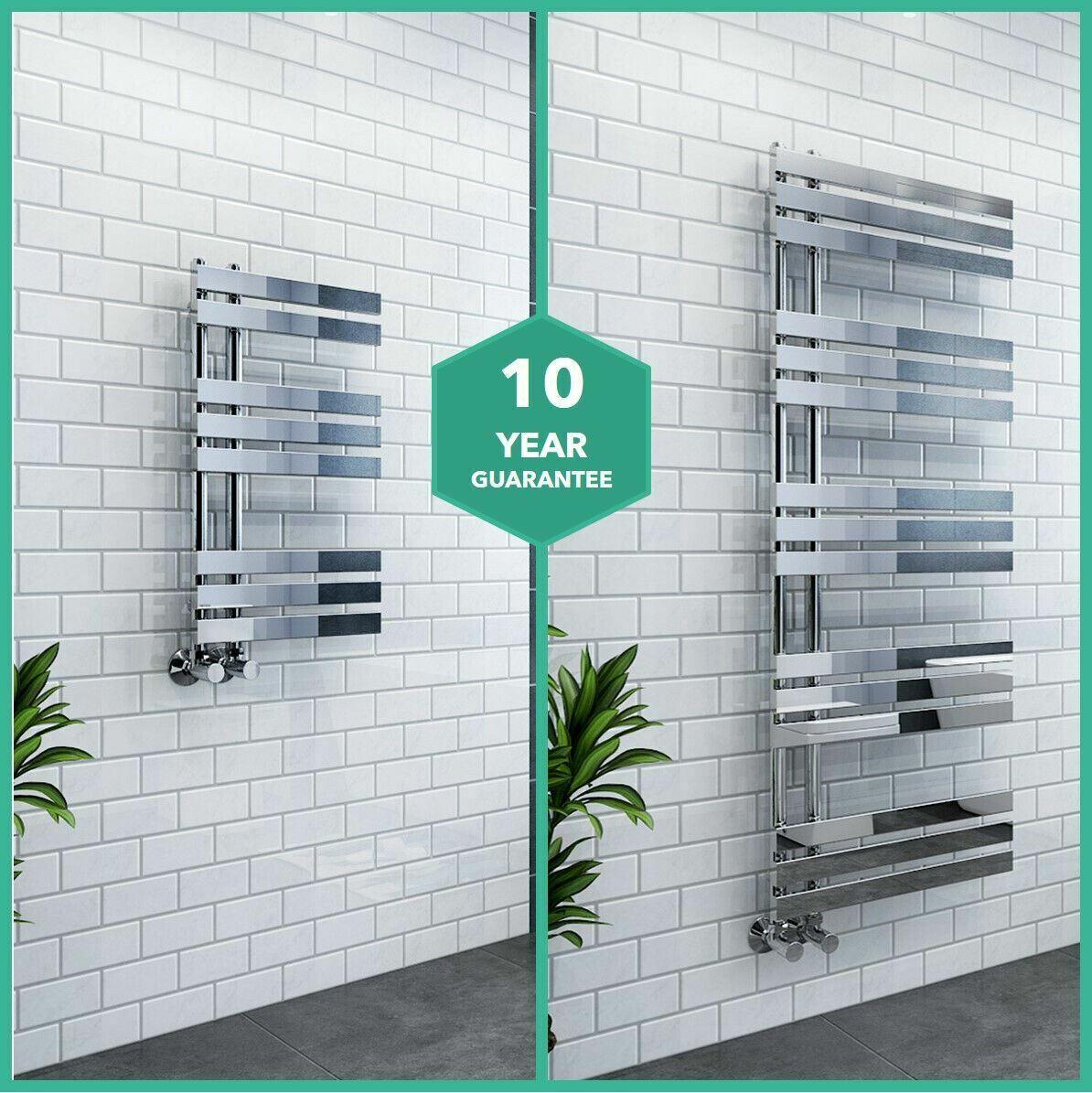 Designer Towel Radiators Chrome Modern Flat Bathroom Heated Towel Rail