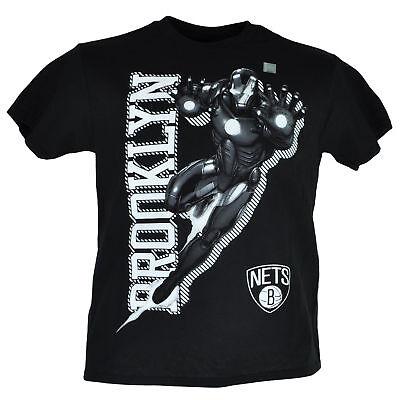 Sport Professioneller Verkauf Nba Marvel Brooklyn Netz Iron Man Jugendliche T-shirt Kurzarm Rundhals Hero Verkaufsrabatt 50-70% Baseball & Softball