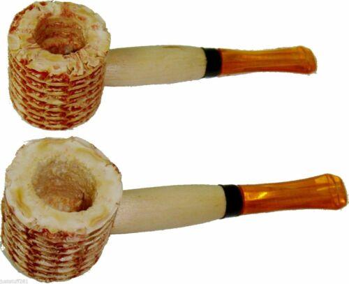 *FREE SHIPPING* 2 Pipes Classic Original Small Corn Cob Tobacco Smoking Pipes