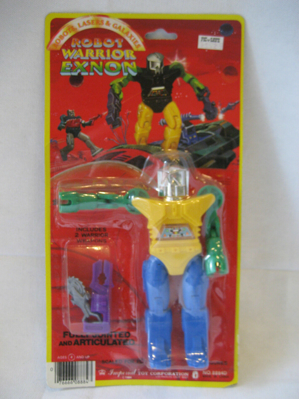 MOC vintage Imperial Robot Warrior EXNON Robots Lasers & Galaxies figure 1984