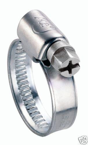 Ace tuyau clips en acier inoxydable 000 8 à 12mm Qté 10