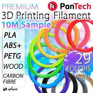 10M PanTech 3D Printing Sample Filament PLA PETG ABS + WOOD Carbon Fibre printer