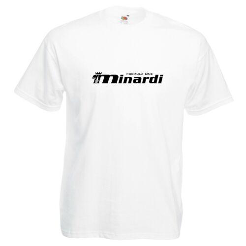 Minardi Formule 1 T-Shirt Voiture F1 Enthusiast Divers Tailles Et Couleurs