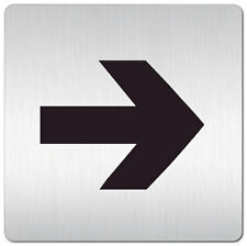 "Aluminium Schild ""Pfeil"" 125 x 125 mm • Richtung • Tür • Wand • Privat • Alu"