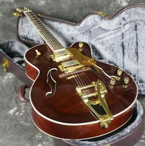 Top-Quality-Hollow-Body-L5-Electric-Guitar-Flamed-Maple-Top-Bigsby-Bridge-Brown