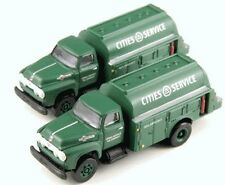 CMW N Scale Diecast 1954 Ford F700 Cities Service Oil Fuel Truck 2 pk 50326