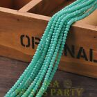 New 150pcs 3X2mm Crystal Glass Rondelle Faceted Loose Beads Opaque Turquoise
