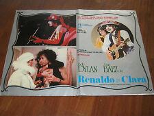 FOTOBUSTA,RENALDO E CLARA BOB DYLAN JOAN BAEZ MUSICALE
