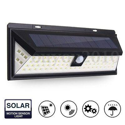 80 LED Solar Power Light Motion Sensor Outdoor Security Lamp Garden Waterproof