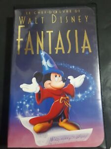 Le-Chef-D-039-oeuvre-De-Walt-Disney-FANTASIA-VHS-Tapes-1991-French-Version-OOP-Anime