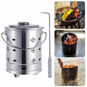 1 Set Burning Fire Bin Aerator Prime Burn Barrel Paper Burning Barrel Stainless