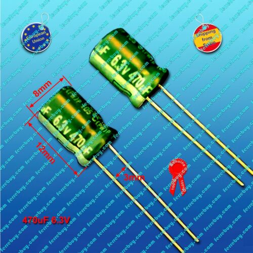 4pz-radial electrolytic capacitor 100uf to 820uf 6.3v