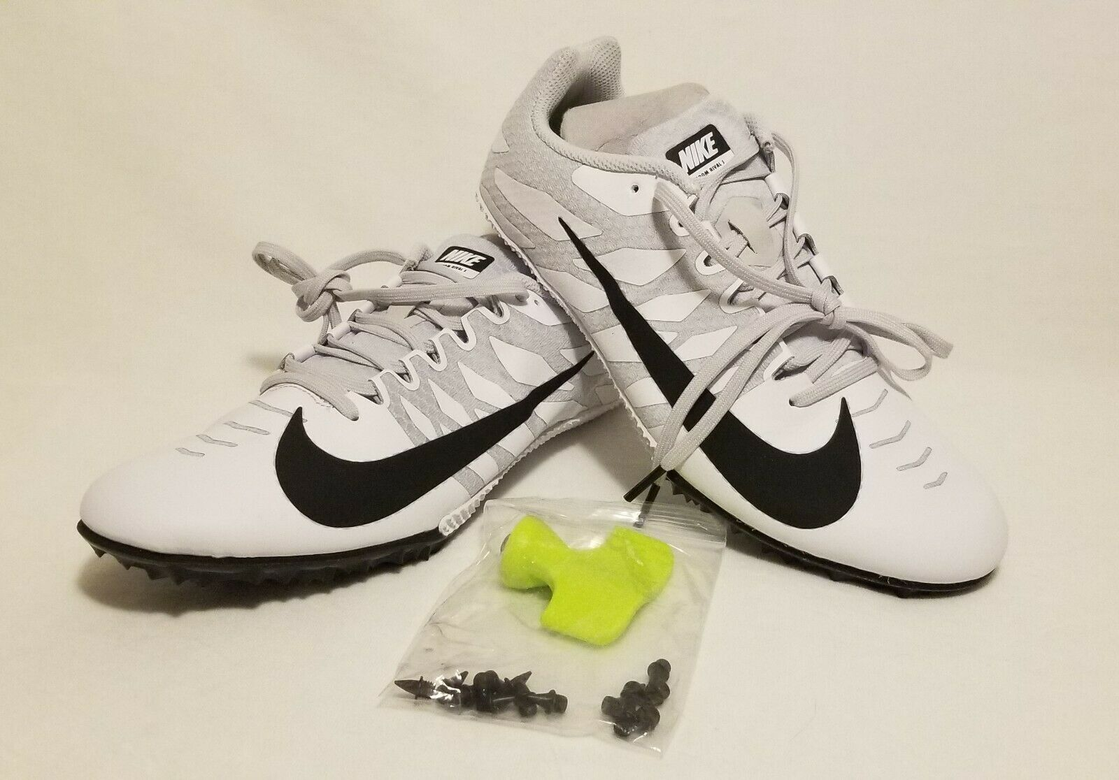 Nike Zoom Rival S Track & Field Sprint Spikes shoes Mens 8 907564-100