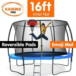 Kahuna-Pro-16-ft-Trampoline-with-Emoji-Mat-and-Reversible-Pad