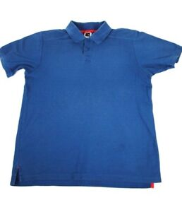 The-North-Face-Men-039-s-Solid-Blue-Polo-Shirt-Short-Sleeve-Size-M