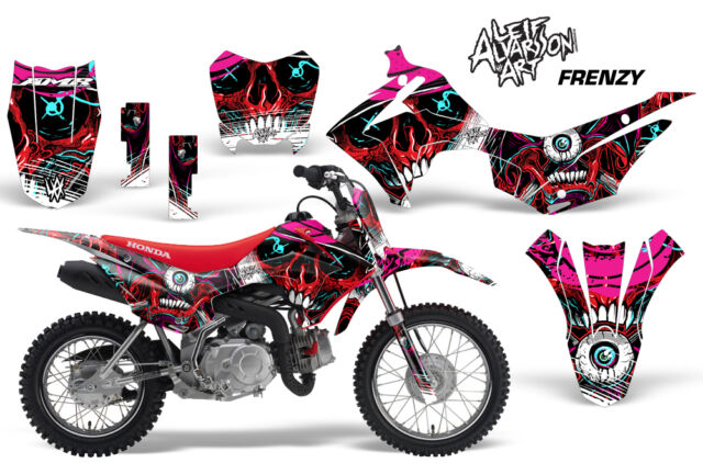 Dirt Bike Decal Graphic Kit Wrap For Honda CRF110 CRF 110 2013 2018 FRENZY RED