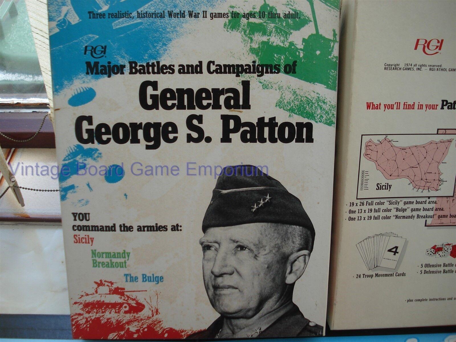 GENERAL GEORGE S S S PATTON GAME - UNUSED - 100% - MAJOR BATTLES & CAMPAIGNS - RARE 9de230