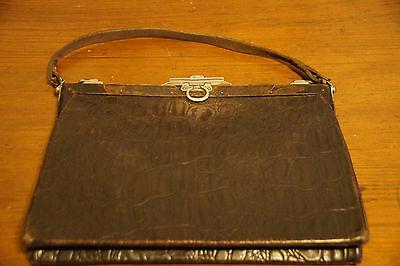 Alte Damenhandtasche - Leder