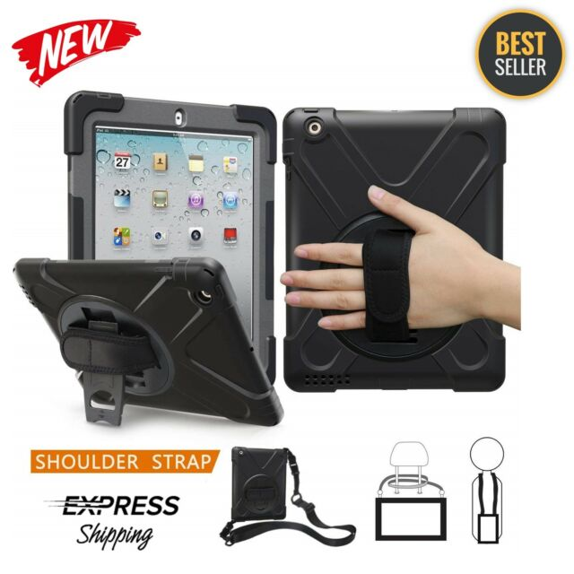 finest selection dbc82 3abef Heavy Duty Lifeproof Case for iPad 2 3 4 With Handle Grip Shoulder Strap  Stand