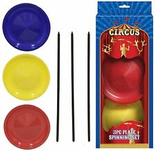 Spinning Plates Set Balancing Juggling Magic Circus Trick Skill Game Toy TY7478