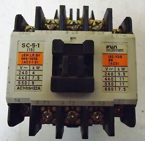 FUJI ELECTRIC CAT.# 4NC0H0, TYPE: SC-5-1 CONTACTOR