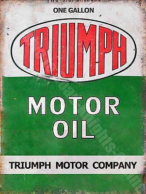 Vintage Garage, 50 Motor Oil, Motoracing Old Car Motorbike, Small Metal Tin Sign
