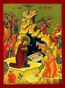 Nacimiento JESÚS en Belén Icono Maria Ikona NATIVIDAD DE CHRIST | eBay