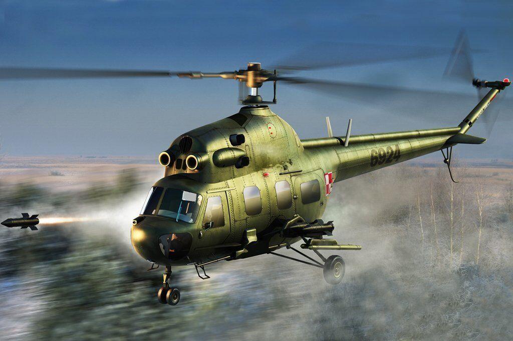 87244 Trumpeter 1 72 Model Mi-2URP Hoplite Antitank Variant Helicopter Plane