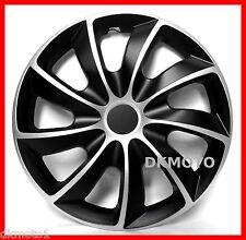 """4x14"""" Wheel trims for PEUGEOT 206 306 406 107 PARTNER full set   silver - black"""