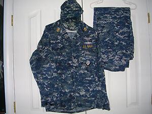 US Navy Working Uniform NWU Digital Blue Camo Medium Reg ...