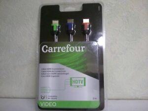 Câble HDMI 3 connecteurs long 2m neuf encore sous blister compatible 4K-Ultra HD - France - État : Neuf: Objet neuf et intact, n'ayant jamais servi, non ouvert, vendu dans son emballage d'origine (lorsqu'il y en a un). L'emballage doit tre le mme que celui de l'objet vendu en magasin, sauf si l'objet a été emballé par le fabricant d - France