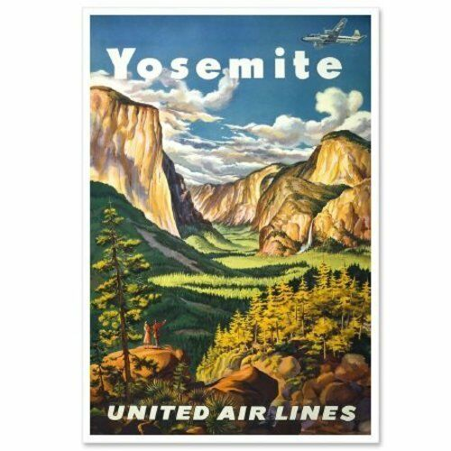 SELECT SIZE Yellowstone United Airlines Vinyl Sticker
