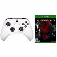 Microsoft Xbox One S Wireless Controller (White) + Metal Gear Solid V: Phantom Pain